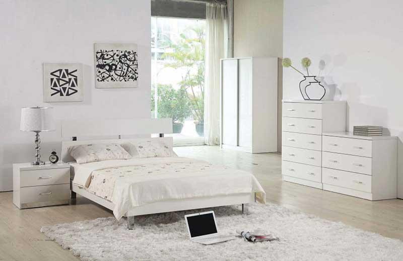 интерьер спальни фото с белой мебелью